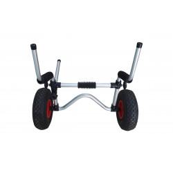 Carrito para kayak con ajuste por orificios de vaciado