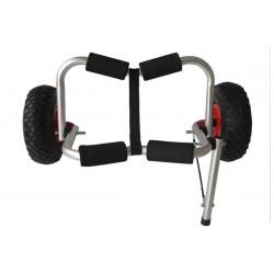 Carrito de transporte con correas para kayak