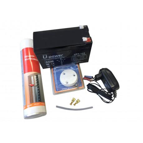 Kit Instalación Sonda, Chart Plotter y GPS 12V - 7 AH