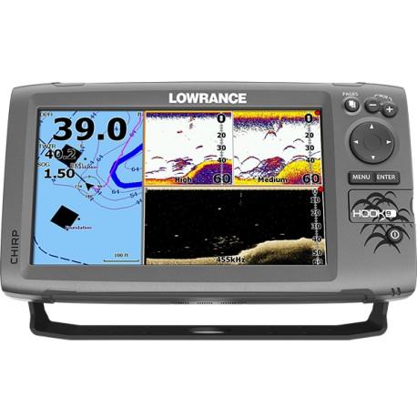 Lowrance Sonda Hook 9 Mid/High/DownScan 83/200 455/800 50/200 Con Chartplotter