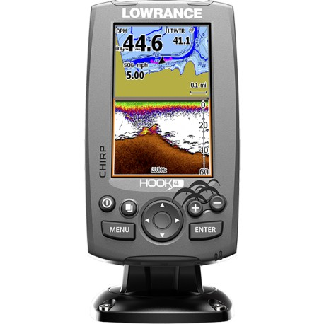Lowrance Sonda Hook 4 Mid/High/DownScan 83/200 455/800 CON CHART PLOTTER