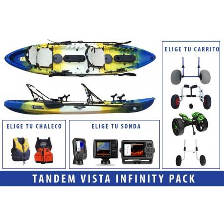 Pack Kayak de pesca Tandem Vista Infinity