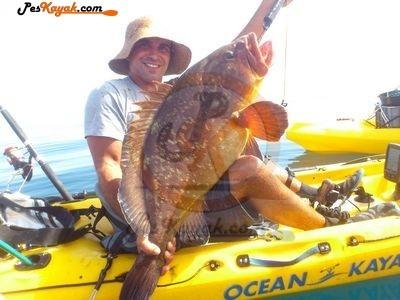 pescar mero en kayak