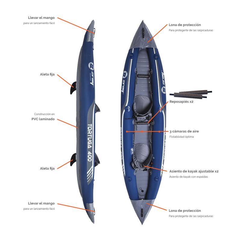 Kayak Hinchable ZRay Tortuga