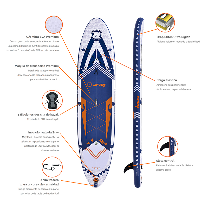 Tabla Paddle Zray SUP X-Rider 12
