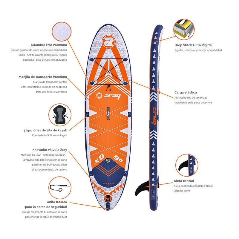 Tabla Paddle Zray SUP X Rider 9